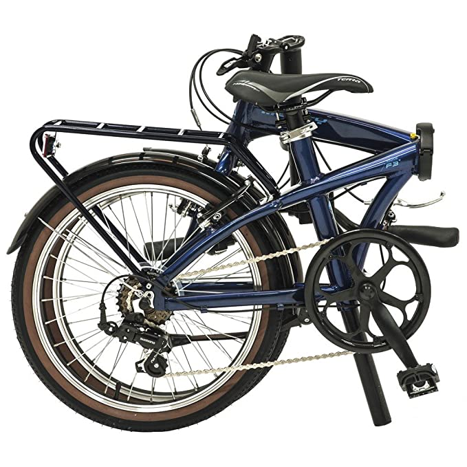 Monty Folding - Bicicleta plegable, color azul oscuro, 20
