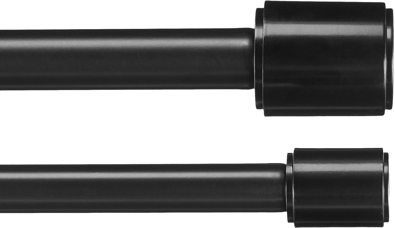 amazon basics 1 double curtain rod 36 to 72 black