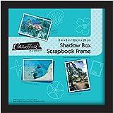 MCS Scrapbook Shadowbox Frame , 8 by 8-Inch, Black (40393)