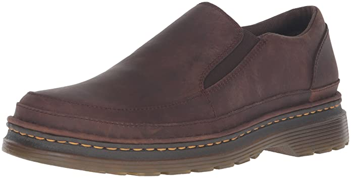 c8ca020bc2baa Dr. Martens Men's Hickmire Slip-on Loafer, Brown, 6 UK/7 M US:  Amazon.co.uk: Shoes & Bags