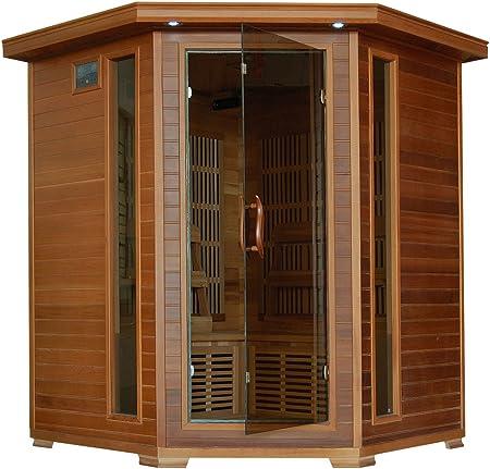 Whistler 4 Person Corner Cedar Heatwave Sauna