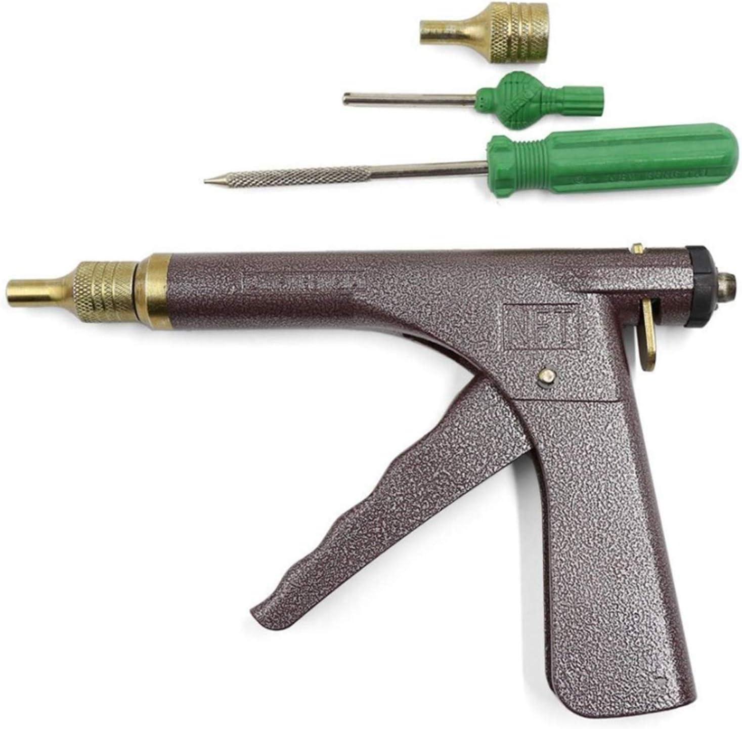 MRCARTOOL Pistolet de gonflage /à Ressort sans Chambre /à air pour r/éparation de Pneu de Voiture avec Bouchon Champignon