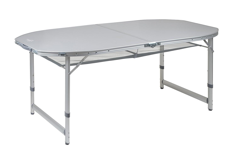 Bo-Camp Mesa Plegable de Aluminio Resistente al Calor y Resistente al Agua 150 x 80 Mesa de Camping Plegable Mesa