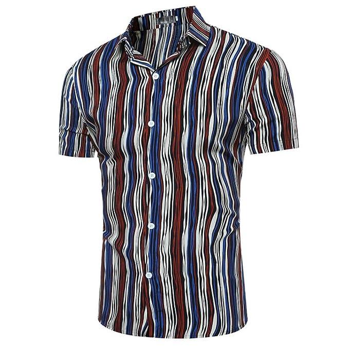 WINWINTOM 2018 Moda Estilo de Verano Camisetas, Verano Diario Camisas De Hombre, Personalidad Hombres Casual Delgado…
