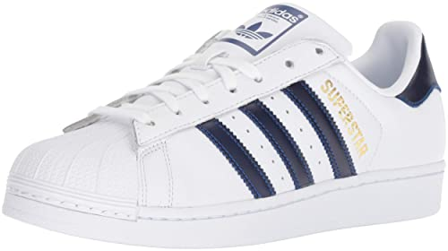 wholesale dealer 7cb17 1fef0 adidas Originals da Uomo Superstar Sneaker, Bianco Collegiate Royal Oro  Metallizzato, 8