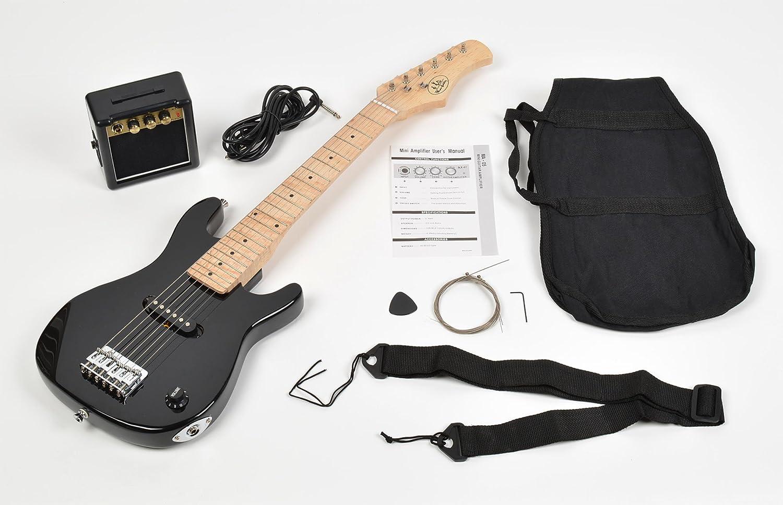 ts-ideen - Guitarra eléctrica sunburst infantil de 1/4 (4-8 anos, altavoz, amplificador, funda y cuerdas): Amazon.es: Instrumentos musicales
