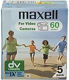 Maxell DVM60SE Mini-cassette vidéo 60 min Lot de 5