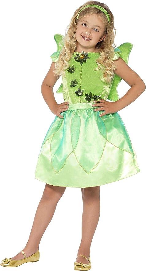 Smiffys - Disfraz infantil de hada del bosque, color verde ...