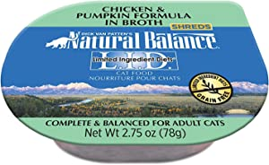 Natural Balance L.I.D. Limited Ingredient Diets Wet Cat Food in Broth, 24 Cups
