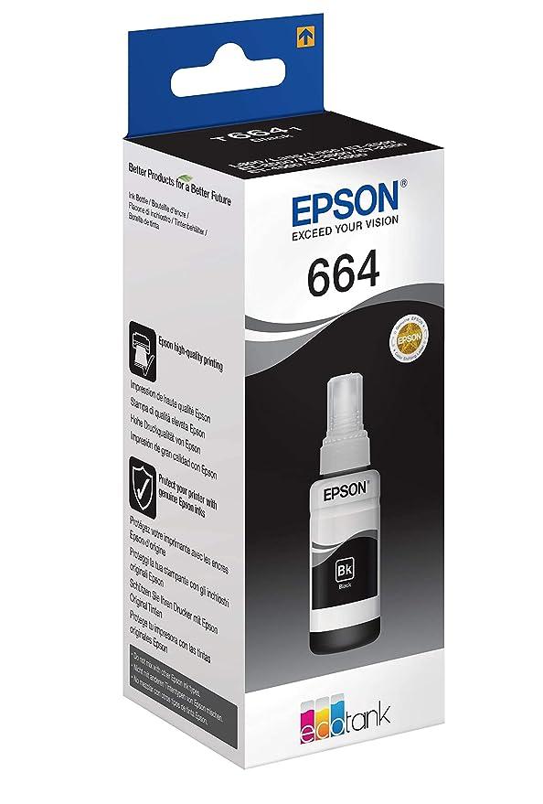 Epson T6641 - Cartucho, 70 ml, color negro válido para los modelos ...