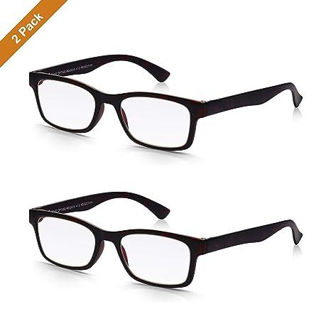 8d8ae1b186 Read Optics Hombre/Mujer x2 PACK Gafas de Lectura Presbicia - Lentes para  Leer +