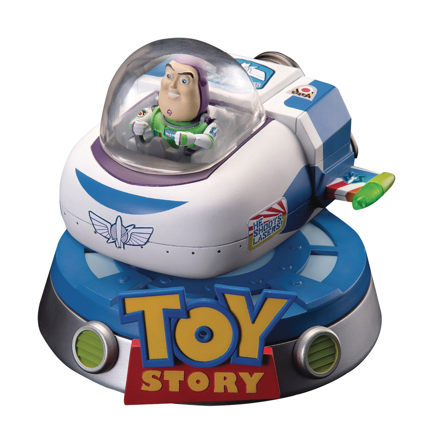 Beast Kingdom Beast KINGDOMFIGBTK041 Abysse Toy Story Egg Attack galleggiante da Buzz Lightyear Rocket Action Figure