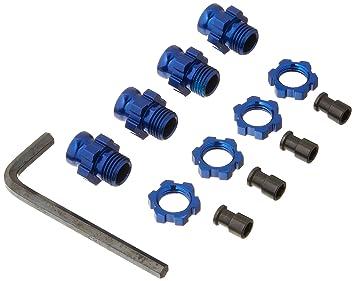Traxxas 6856X - Tuerca y tapacubos para Coche, 17 mm, Color Azul: Amazon.es: Juguetes y juegos
