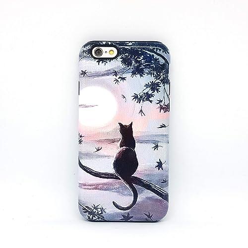 Gatto nero cover case custodia per iPhone 5, 5s, SE 2016, 6, 6s, 7 ...