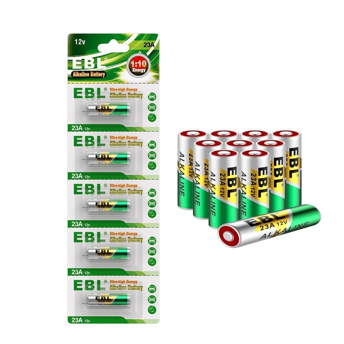 EBL 10 Piezas A23 23A GP23AE MN21 23GA 12V Pila Alcalina