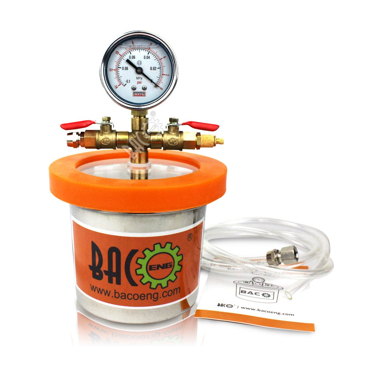 BACOENG Universal Vacuum Chamber Series: Standard 1.2 Quart by BACOENG