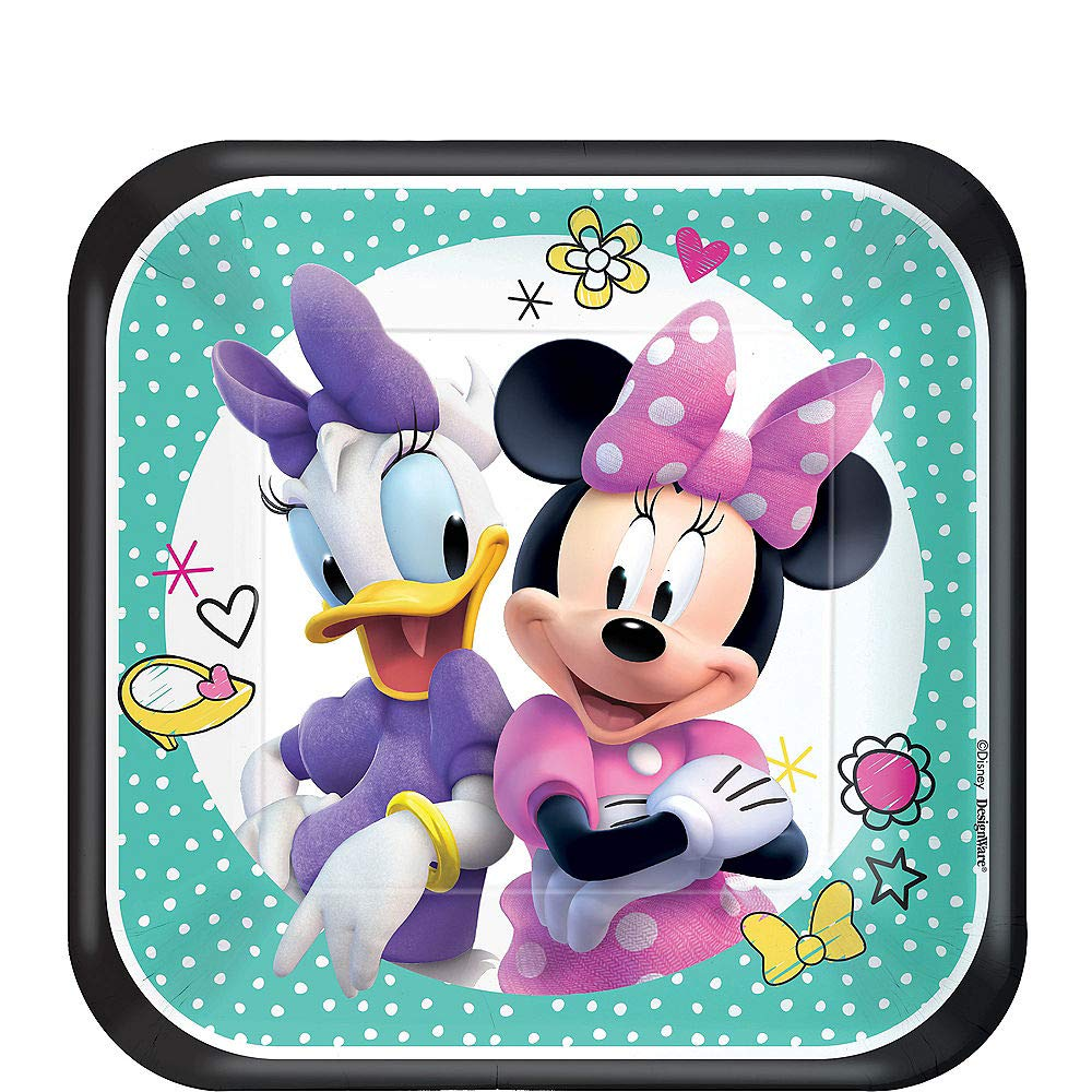 Minnie Happy Helpers Plate (S) 8ct [Contains 5 Manufacturer Retail Unit(s) Per Amazon Combined Package Sales Unit] - SKU# 541868