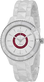 VIII White Dial Ceramic Automatic 38mm Ladies Watch