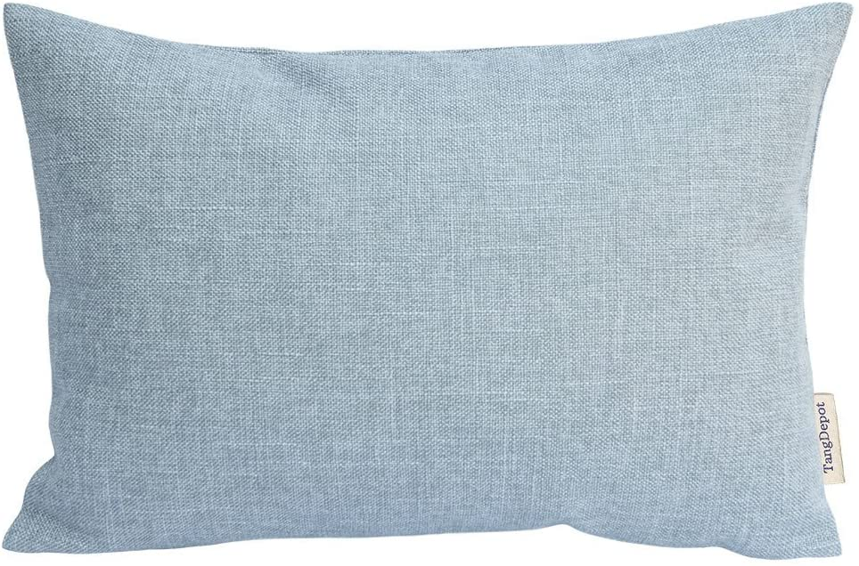 TangDepot Heavy Lined Linen Cushion Cover, Throw Pillow Cover, Rectangle Pillow Covers, Decorative Cushion Cover Pillowcase - (12