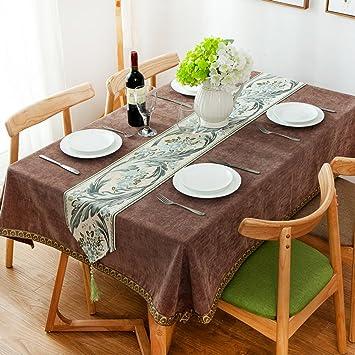 Bbdsj Home tischdecke,Vintage tischdecke,Einfarbige tischdecke,Stoff ...
