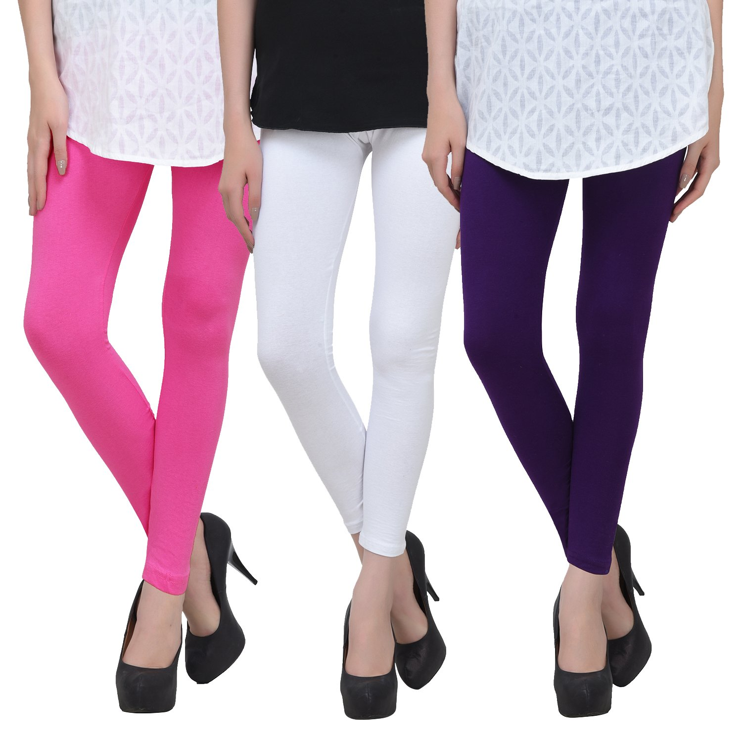 d4bc003316d95 Livener Multi Color Cotton Leggings - Ankle Length (Pack of 3): Amazon.in:  Clothing & Accessories