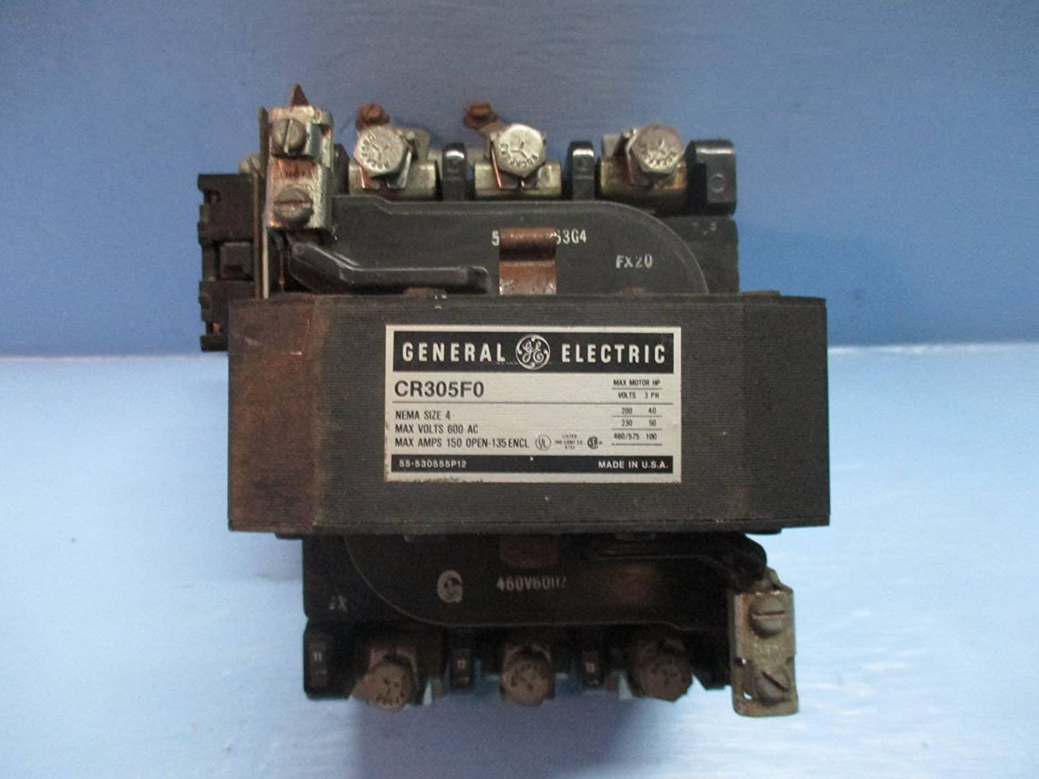 General Electric Cr305fo Size 4 Contactor 150 Amp 600 Vac 460v Coil Ge Wiring 3 Phase 100hp Sz4 Industrial Scientific