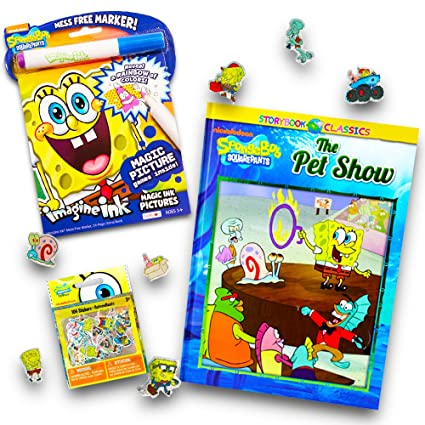 Amazon Com Nickelodeon Spongebob No Mess Coloring Set For Toddlers