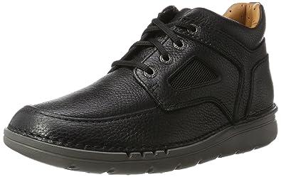 Clarks Baystonego GTX, Abarcas para Hombre, Negro (Black Leather), 48 EU