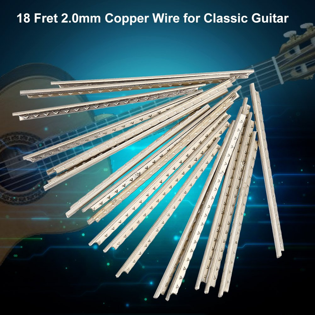 Dilwe 18pcs Standard Guitar Fret Wire, Guitar Copper FretWire 2mm ...