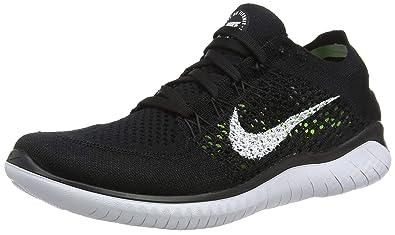 buy popular 22ebd cd5a8 Nike Australia Women s Free RN Flyknit 2018 Running Shoes, Black White, ...
