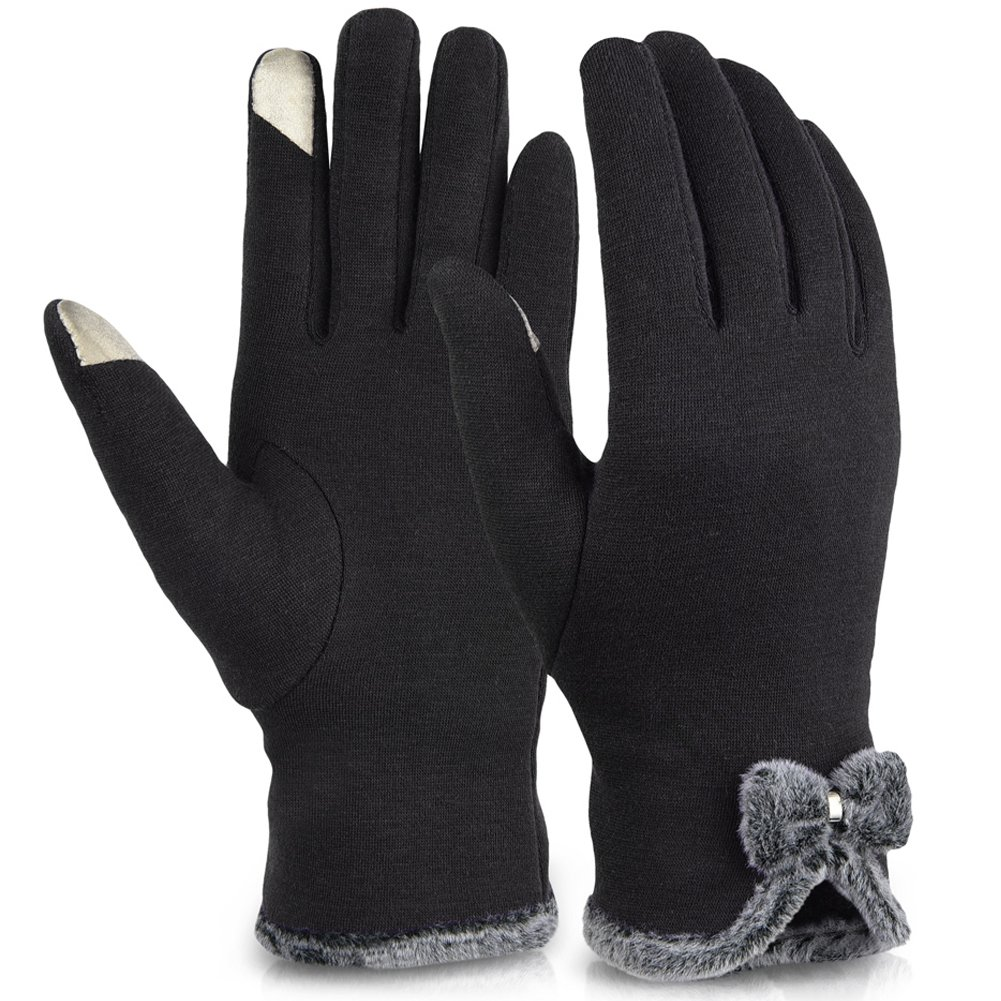 Vbiger Women Winter Warm Gloves Touchscreen Texting Gloves Cold Weather Gloves