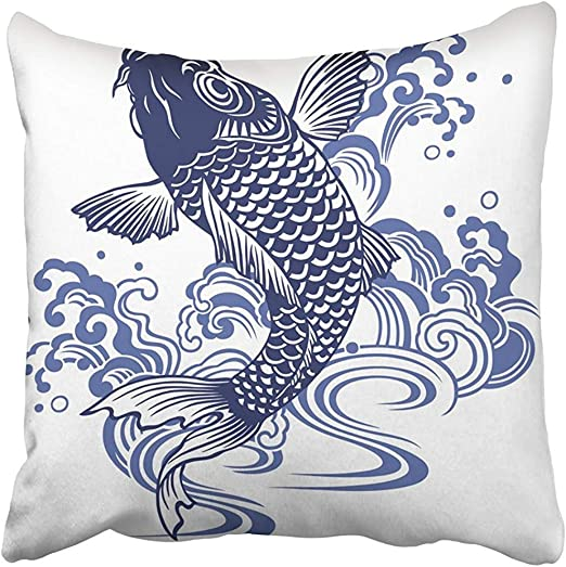 Starohou Throw Pillow Covers Print Blue