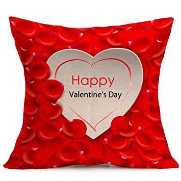 gbsell happy valentines day pillow case throw cushion cover sofa home car party decor a - Valentine Pillow