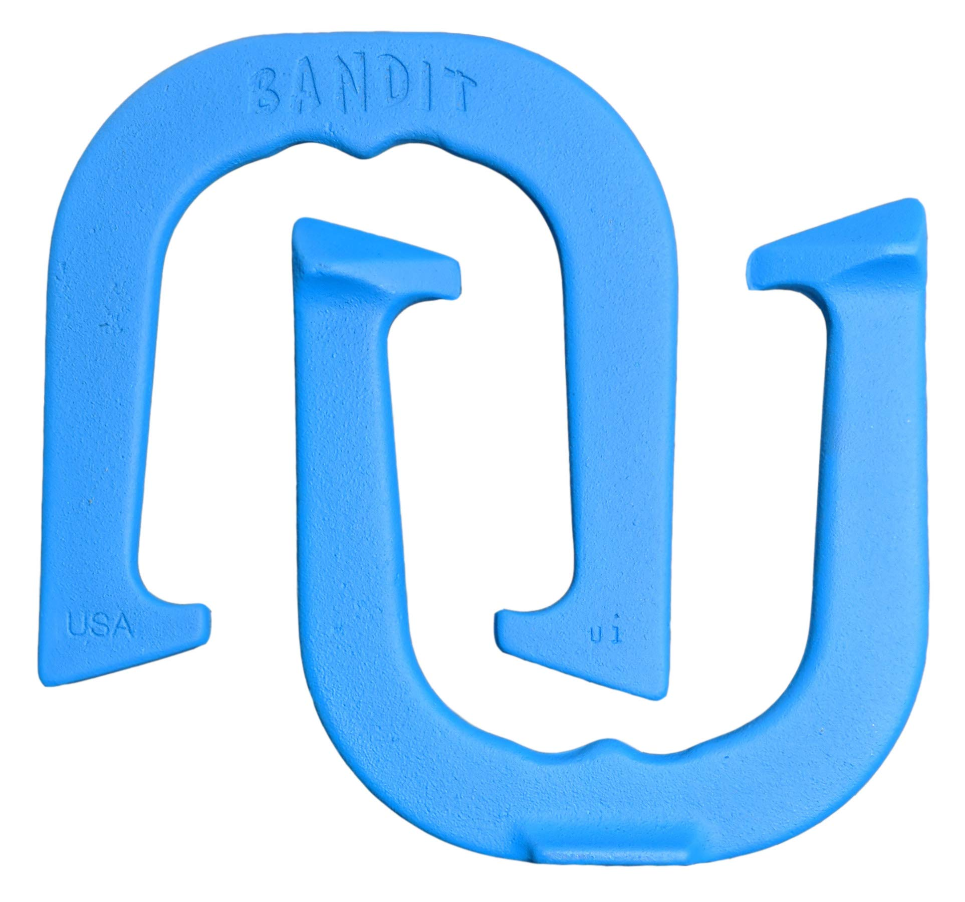 Bandit Professional Pitching Horseshoes- Made in USA! (Blue- Single Pair (2 Shoes))