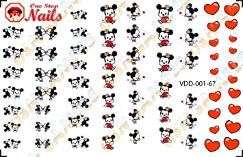 Amazon Com Valentine S Day Disney With Mickey And Minnie Nail Art
