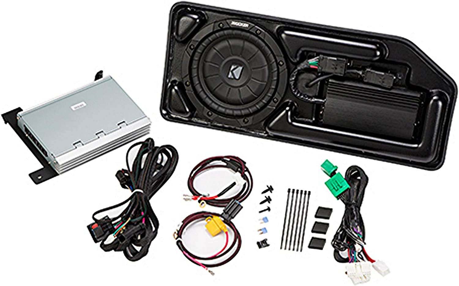 PCOCRE17I KICKER PowerStage Multi-Channel Amplifier /& Powered Subwoofer Upgrade Kit for 2017-2018 Chevrolet Colorado /& GMC Canyon Crew CAB Not Compatible w Bose