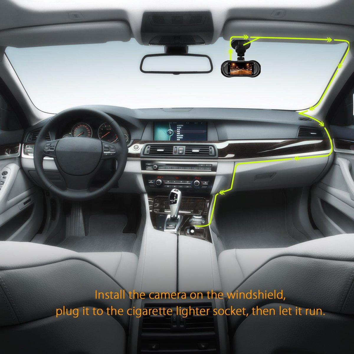 Vantrue X3 WIFI Dash Cam, Super HD 2.5K Car Dashboard Camera 1440P Car Camera with Ambarella A12 Chipset, 170°Wide Angle, Super HDR Night Vision, Loop Recording, Parking Mode, Motion Detection by VANTRUE (Image #7)