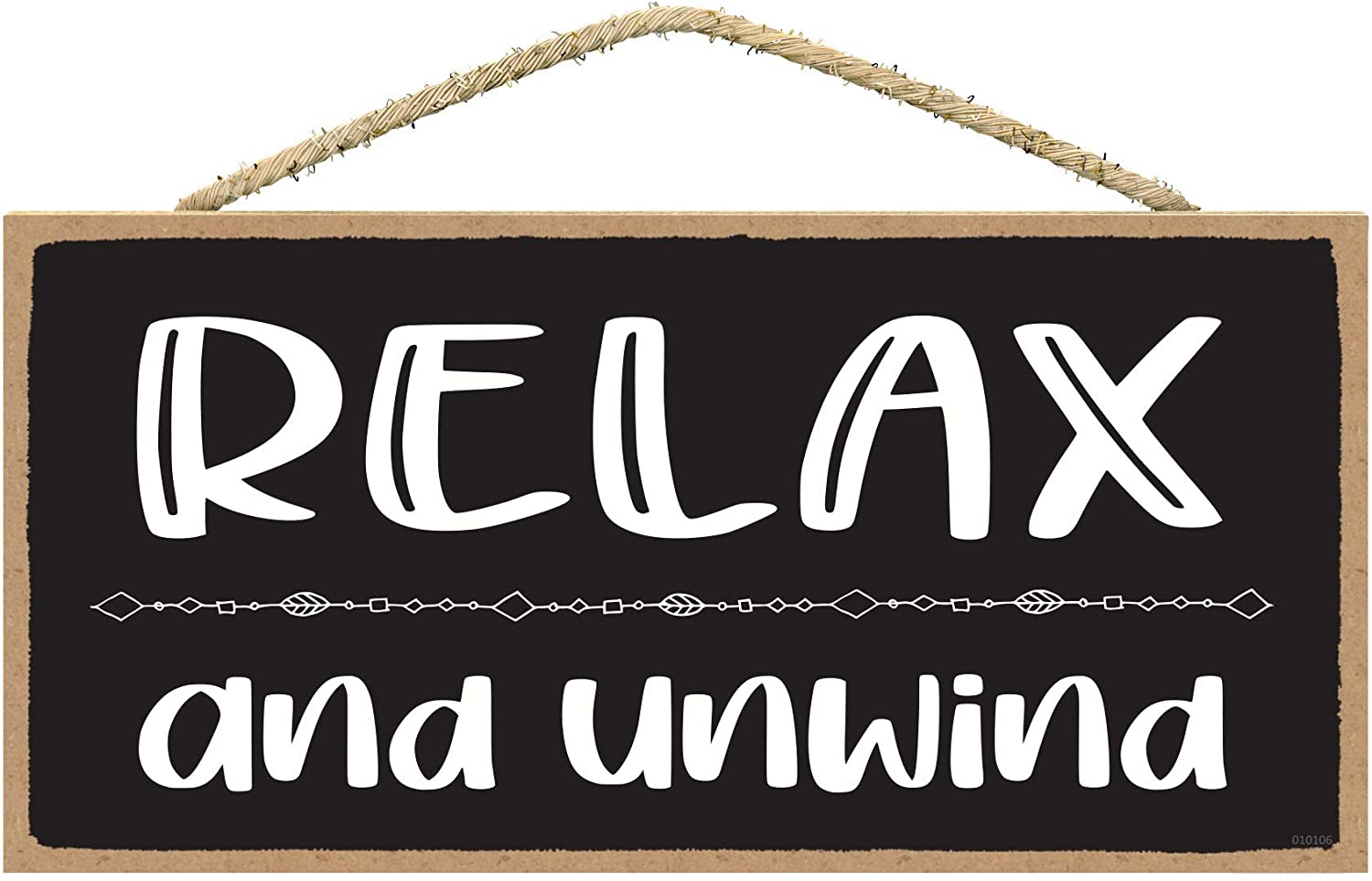 SARAH JOY'S Relax and Unwind - Relax Sign - Relax Signs for Bathroom - Relax Signs for Home Decor - Relax Wall Decor - Relax Bathroom Sign