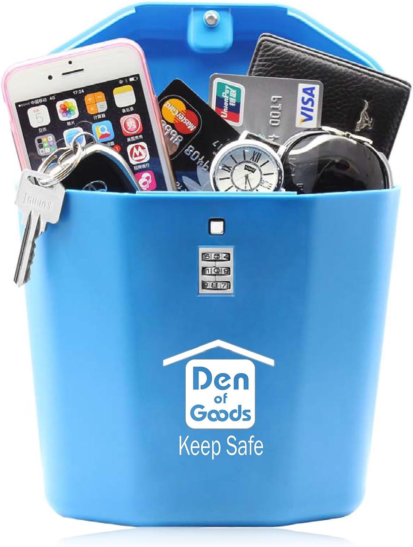 Keep Safe Caja Portátil de Bloqueo de Vault de Viaje. Regalos para Hombres. para Playa, Coche, Caravana, Camping, Deportes, Viajes, Compras.