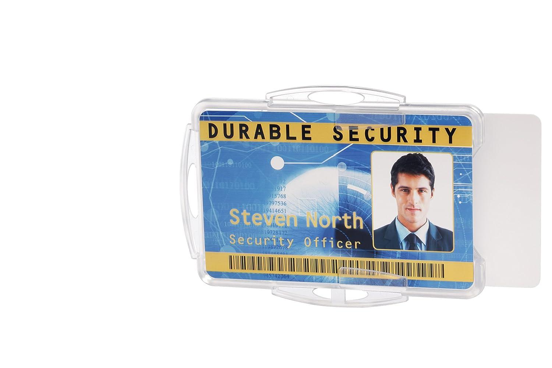 Durable 891819 Ausweishalter f/ür 1 Betriebs-//Sicherheitsausweis Packung /à 10 St/ück transparent im Format, 54 x 85 mm