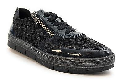 Remonte D5812 - Zapatillas de Deporte Mujer, Negro (Negro), 36 EU