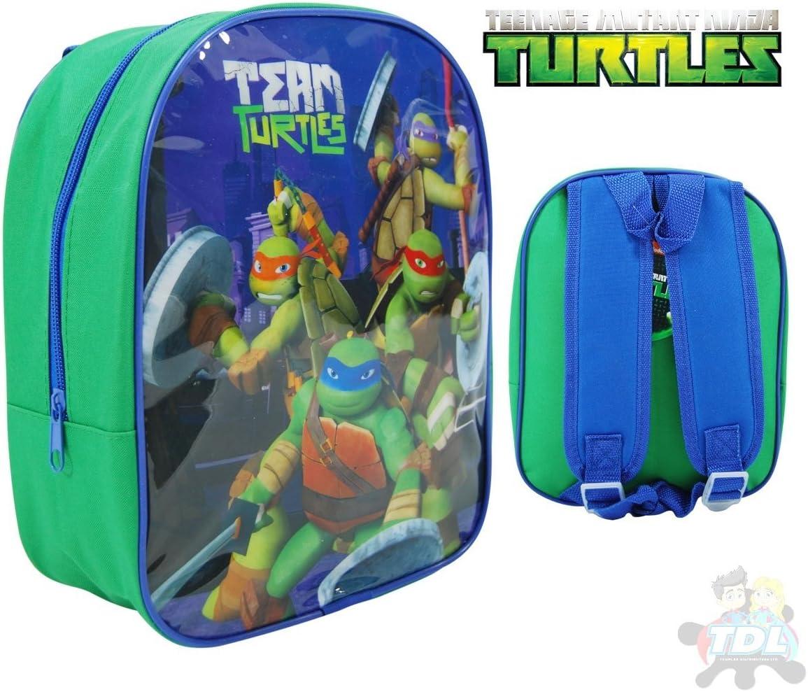 Bleu//Vert /& Noir Teenage Mutant Ninja Turtles 1023ahv-6669 Team Tortues 41cm Grand Sac /à Dos