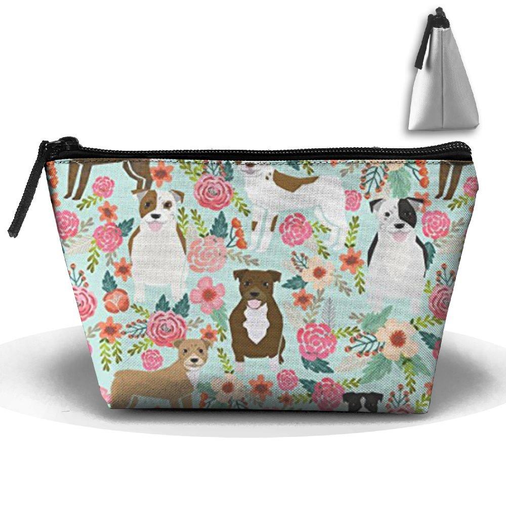 ピットブルテリアキュート犬Toiletry bag-portable Travel Organizer Cosmetic Make Up Bag Case forレディースメンズシェービングキット、吊り下げフック B07BK2F2V2