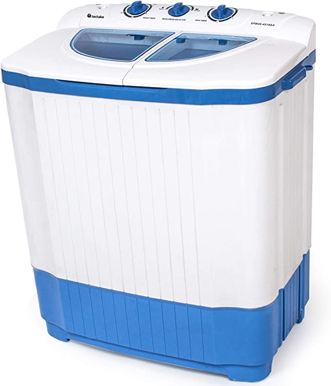 TecTake Combinación Mini Lavadora portátil (Capacidad 4,5kg) + Secadora centrifugadora de 3,5 kg: Amazon.es: Hogar