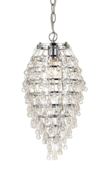 AF Lighting H Crystal Teardrop Chandelier Clear Chrome And - Teardrop chandelier crystals