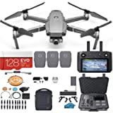DJI Mavic 2 Zoom Drone Quadcopter Fly More Combo with Smart Controller (Built in Monitor), 3 Batteries, Case, 128GB SD…