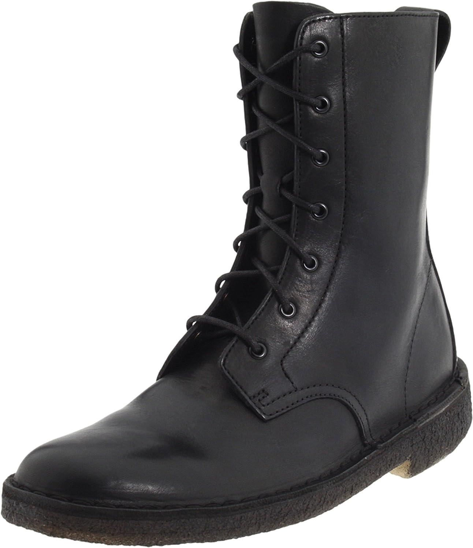 Amazon.com | CLARKS Women's Desert Mali W, Black Leather, 11 M US | Ankle &  Bootie