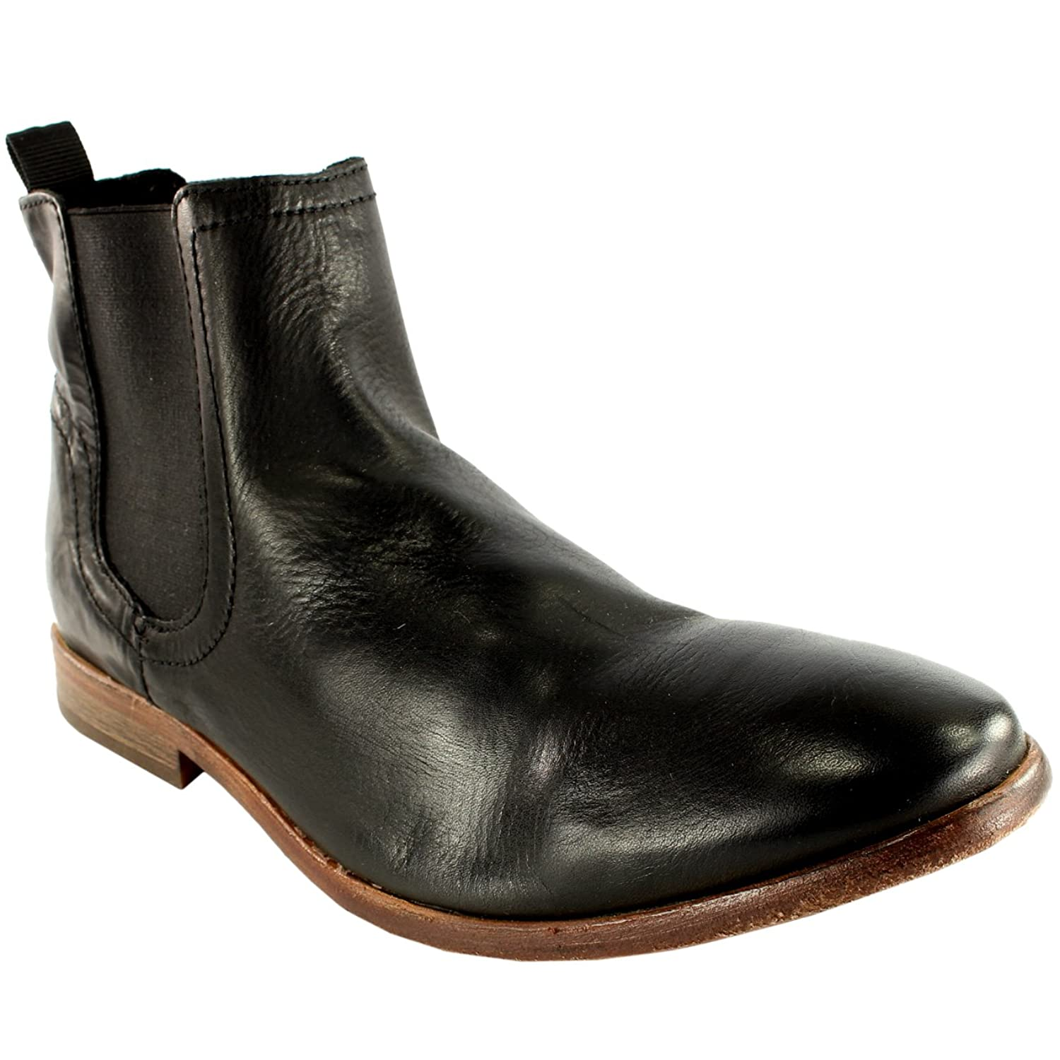 Amazon.com | Mens H By Hudson Patterson Smart Pull On Leather ...