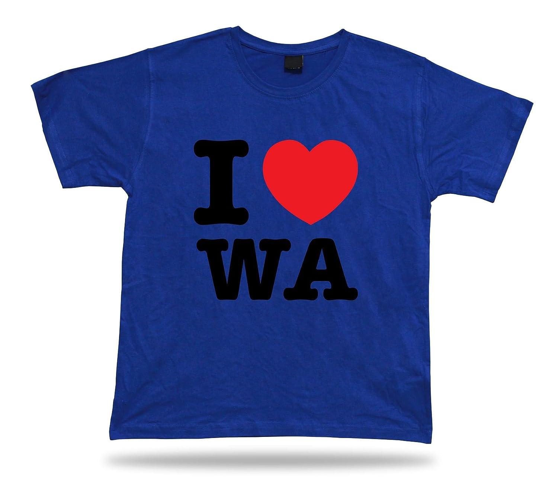 I Love Washington T-Shirt State Heart WA