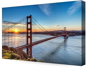 DECORARTS - Golden Gate Bridge, San Francisco, Califonia. Giclee Canvas Prints for Wall Decor. 36x24x1.5